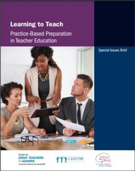 Learning to Teach: Practice-Based Preparation in Education